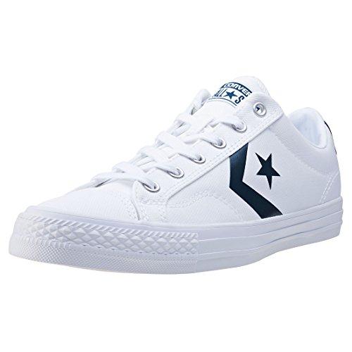 Uomo scarpa sportiva, colore Bianco , marca CONVERSE, modello Uomo Scarpa Sportiva CONVERSE CHUCK TAYLOR STAR PLAYER OX Bianco White Navy