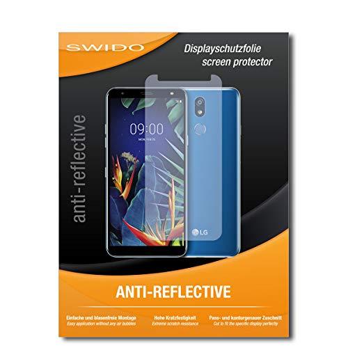SWIDO Schutzfolie für LG K40 [2 Stück] Anti-Reflex MATT Entspiegelnd, Hoher Härtegrad, Schutz vor Kratzer/Folie, Bildschirmschutz, Bildschirmschutzfolie, Panzerglas-Folie