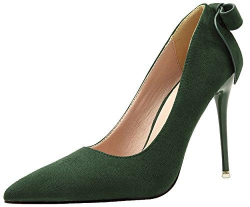 Mujer Tacones altos De BIGTREE Ante Stiletto Zapatos