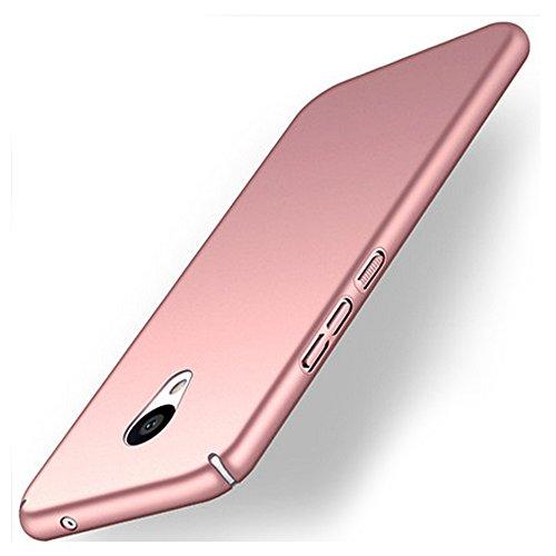 UKDANDANWEI Meizu M5s Custodia,Semplice Slim Protezione e Hard Case Cover Custodia protettiva per Meizu M5s - Rose Gold
