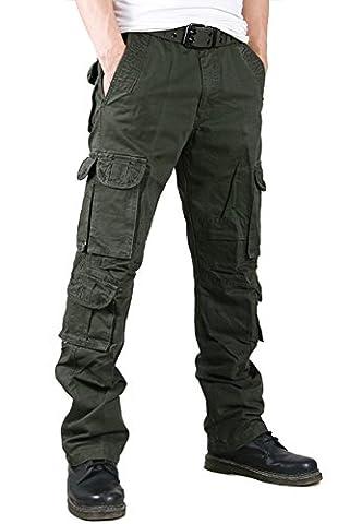 YX–Pantalon–Cargo–Homme, Hommes, Vert foncé