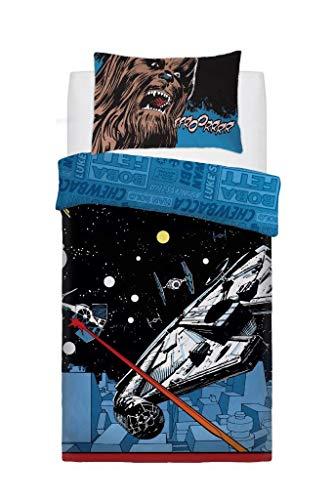Goldstar  ® Disney Panel Star Wars Comic Pop Kinder Bettbezug Wende-Bettwäsche-Set, Twin (Star Wars Bettwäsche Twin)