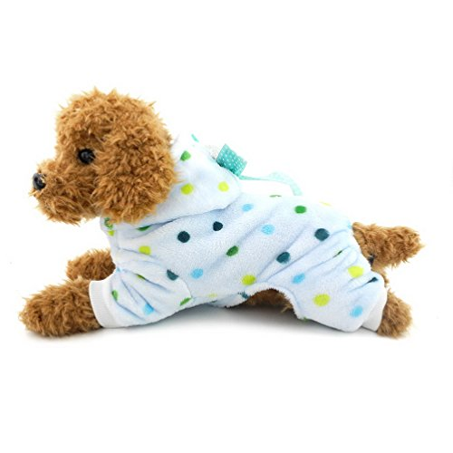 Pijama perro forro polar Selmai diseño lunares cuatro