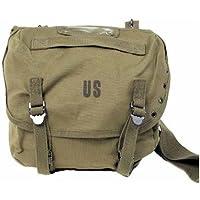GEAR® Sac Messenger Besace Musette à Bandoulière US Army - Inscription US - Coloris Kaki - Airsoft - Paintball - Outdoor