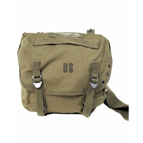 Sac Messenger Besace Musette à Bandoulière US Army - Inscription US - Coloris Kaki - Airsoft - Paintball - Outdoo