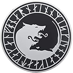 FiedFikt Parche táctico con diseño de Lobo Vikingo, decoración táctica