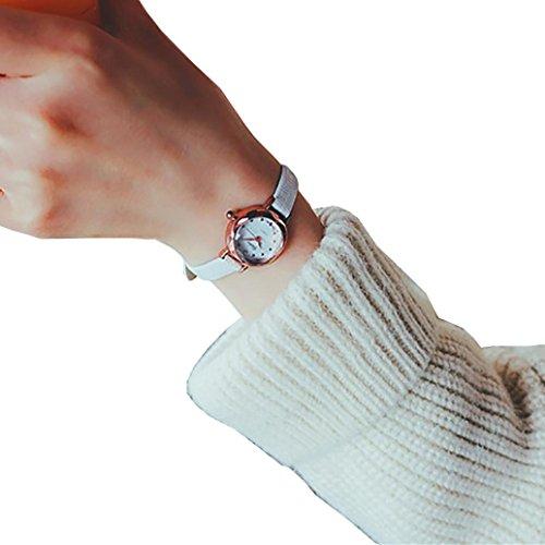Orologio da polso, JiaMeng ❀ Modelli femminili della vigilanza di modo della vigilanza del quarzo piccolo quadrante Donne della vigilanza analogica orologi da polso al quarzo (S, Bianco)