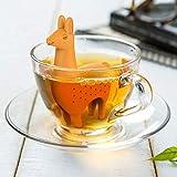 Shager 1× Mignon Éléphant Licorne Filtre à thé infuseur Silicone réutilisable,...