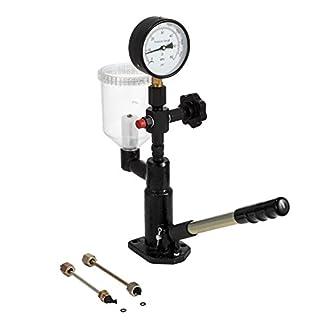BuoQua 600 Bar Einspritzdüse Prüfgeräte 0,8L Krafststoffdruckmesser mit doppelter Skalierung Injektoren Tester Diagnosegerät im Dieselmotor