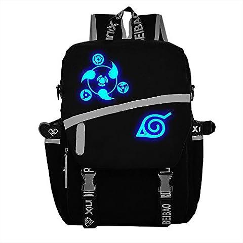 Naruto Hochwertige Akatsuki Tasche Backpack Schultaschen Schule Tasche Schwarz