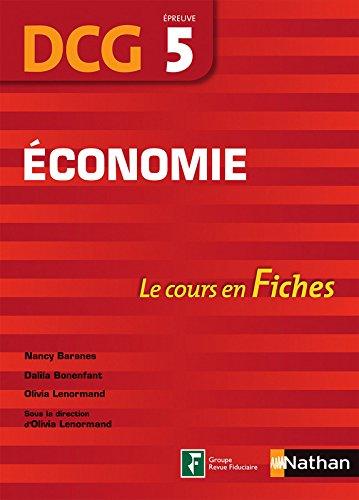 Economie - DCG 5 - Fiches