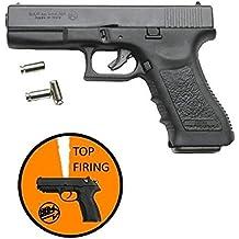 Pistola giocattolo a salve semiautomatica GAP (Glock) bruni scacciacani calibro 8mm a salve