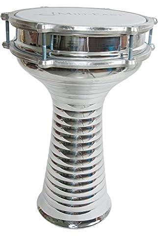 Mid-East Aluminum Doumbek, Zebra, 8.5-by-15-Inch