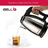 iBELL Hold The World. Digitally! Stainless Steel Electric Kettle, 1.8 L (Silver, 1800 W)