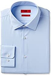 Hugo Boss Hugo Mens Dress Shirt, Blue, 17 Neck 36-37 Sleeve