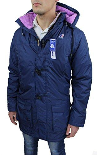 Giubbotto Giacca uomo K-Way blu mod. Limo Gabriel Orsetto casual Giubbino invernale lungo taglia L (L)