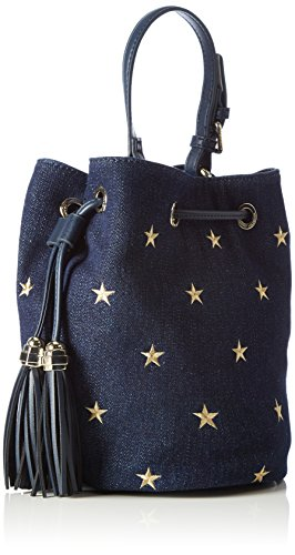 TOMMY Hiliger, TOMMY BUCKET MINI BUCKET DENIM-Borsa da donna Blu (Winter Denim 901 901)