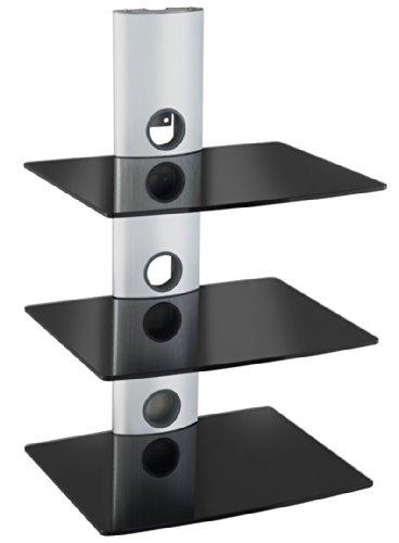 Designer-Habitat-Magnifique-tagres-en-verre-noir-pouvant-supporter-les-accessoires-pour-tlviseur-tel-que-les-Lecteurs-DVD-Blu-Ray-Console-de-jeu-PS3-Xbox-36-et-dcodeur
