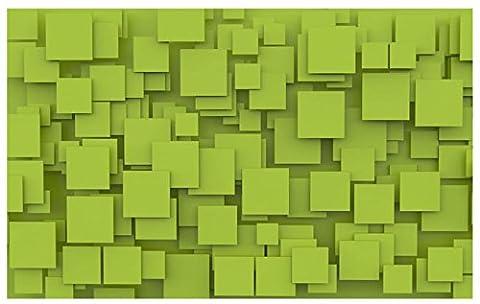 Lqwx Maßgeschneiderte 3D Wallpaper Wandbild Grüne Geometrischen Plätzen Stereoskopischen 3D-Wandbilder Wohnzimmer Schlafzimmer Non-Woven Vinyltapeten 400 Cmx 280 Cm