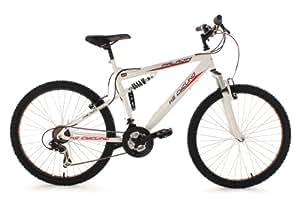 KS Cycling Vélo VTT Fully Paladin RH 51cm Blanc Blanc 26