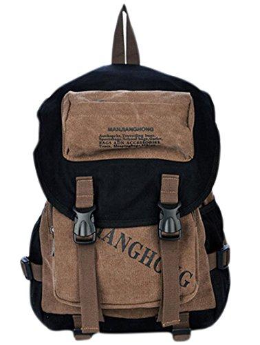 fanselatm-unisex-retro-outdoor-canvas-laptop-bag-travel-rucksack-backpack-b-coffee