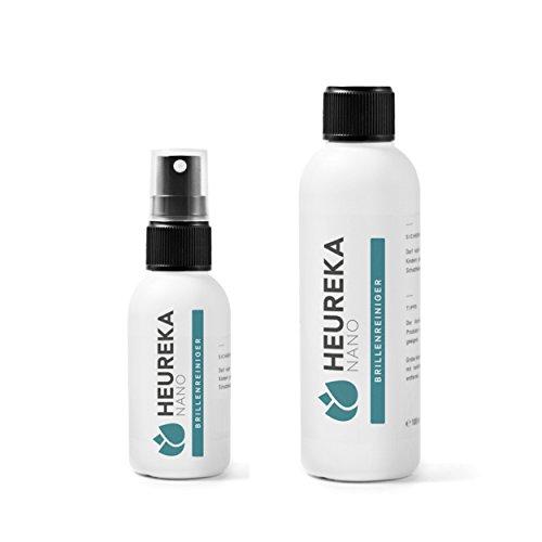 Heureka® Clean Brillenreiniger mit 3fach Wirkung für Reinigung, Anti-Statik & Anti-Streifen / Profireiniger vom Optiker und der Industrie für Ihre Brille zu Hause