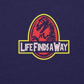 Planet Nerd - Life finds a way - Damen T-Shirt Dunkelblau