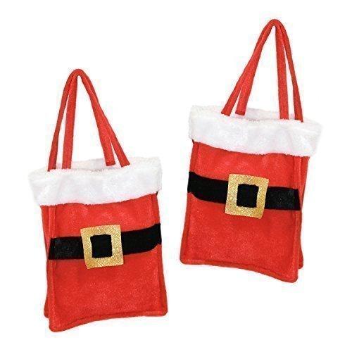 Deluxe Plüsch neuheit Santa Anzug Geschenk Tragetasche - Anzüge Santa Deluxe