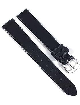 Eulit Ersatzband Uhrenarmband Leder Nappa schwarz 21554, Stegbreite:13mm