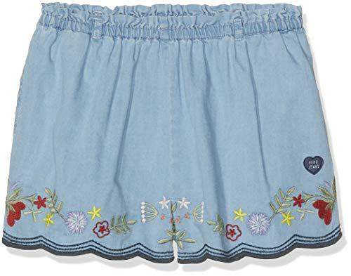 Pepe Jeans Mädchen Dora Badeshorts, Blau (Blue 551), 7 Jahre (Herstellergröße: 7) Mädchen Dora