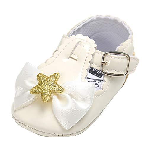 Alwayswin Sommer Baby Mädchen Baotou Kleinkindschuhe Bowknot Niedliche Prinzessin Schuhe Babyschuhe Fashion First Walkers Kid Schuhe Toddler Flache rutschfeste Schuhe Einzelne Schuhe -