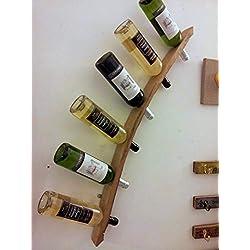 Porte-bouteilles murale - Douelle barrique recyclée - Montage gauche. Création artisanale en chêne. Amateur de Vin - Wine Lover! **PROMO** Économisez avec une option multiple achat. Lunes Art Barrique