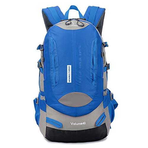 NOBIE Reisetasche Bergsteigenbeutel Rucksack 40L Kapazität Wasserdicht Angemessenes Design Bequemer für Sie zu verwenden,Blue