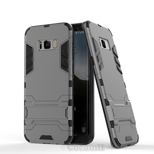 Galaxy S8 Plus Funda, Cocomii Iron Man Armor NEW [Heavy Duty] Premium Tactical Grip Kickstand Shockproof Hard Bumper Shell [Military Defender] Full Body Dual Layer Rugged Cover Case Carcasa (Gray)