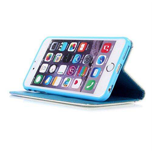 KATUMO® Taschen & Schalen Apple iPhone 6/6S, Etui Kastenmappen und Standfunktion Wallet Case für iPhone 6 Handytasche Flip Flio Cover Hülle (Grauer Elefant) Lotus