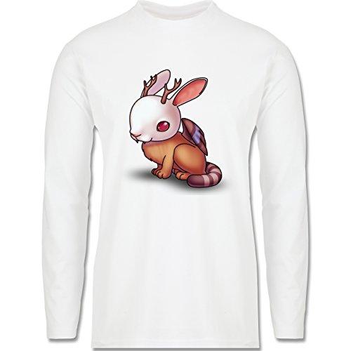 Sonstige Tiere - Wolpertinger - Longsleeve / langärmeliges T-Shirt für Herren Weiß