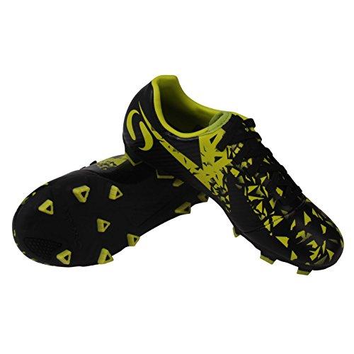 Sondico Boys Blaze Firm Ground Football Boots Black Lime UK C12  31