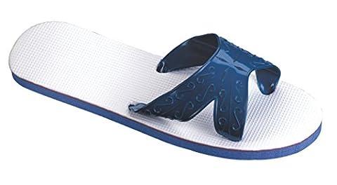 Beco x Chaussons en caoutchouc mousse x de Strap, Mixte, BECO X-Strap. Moosgummi Slipper, bleu, 40-41