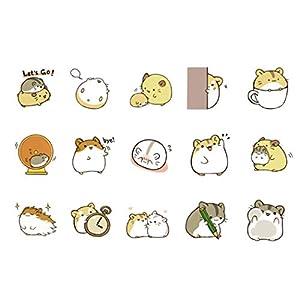 Ogquaton 90Pcs Kawaii Small Hamster