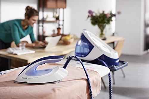 415 c4uI9EL - Philips GC8715/20 PerfectCare Performer Steam Generator Iron (OptimalTemp No Fabric Burns Technology, 6 Bar, 360 g Steam…