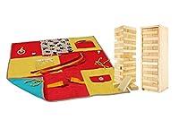 Nestel-Therapie-Decke (ca. 70x70cm) | Ergotherapie und Hilfsmittel bei Demenz für Senioren | + ZirbenWackelturm (Geschicklichkeitsspiel)
