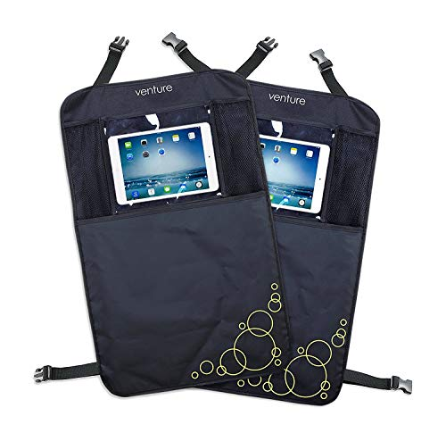 Wagen Sie-Premium Car Seat Protector-Kick-Matten (schwarz, Packung mit 2) (Dont Kick)