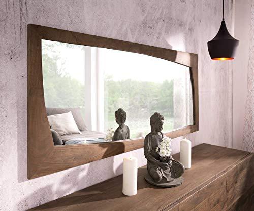 DELIFE Spiegel Wyatt Akazie Braun 160x70 cm Designer Wandspiegel
