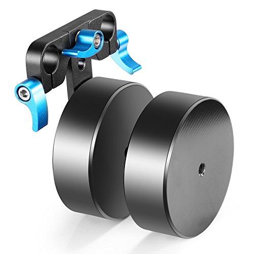 ierung 4.6lbs/2.1kg Abnehmbarer Zähler Gewicht für Balancing Shoulder Mount Rig Stabilisator für 15mm Rundstäbe (blau + schwarz) ()