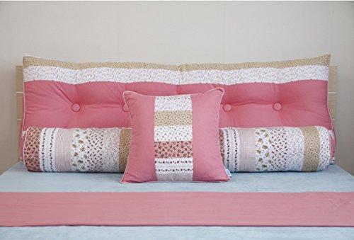 Lumber Pack (HUANLIN Doppelbett Nacht Dreieck Kissen Soft Pack Kissen Bett Lumber Stützkissen(Dreiteilig) ( Farbe : Pink , größe : M ))