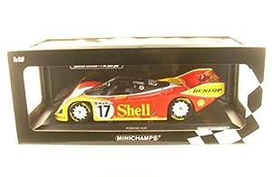 Minichamps-Porsche-962C-200Meilen Von Nurnberg 1987Coche de ferrocarril de Collection, 155876517, Rojo/Amarillo/Blanco