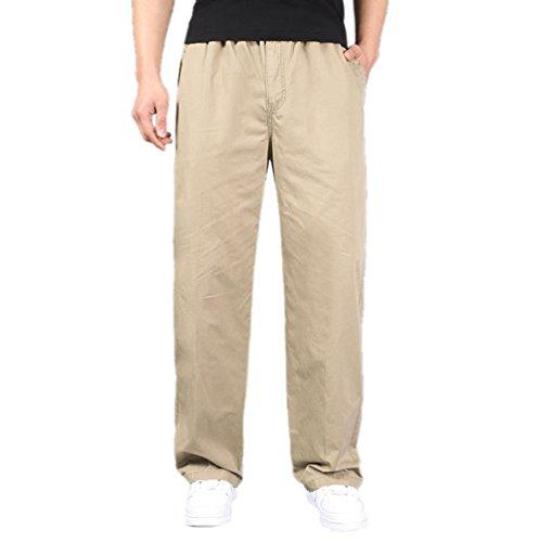 Anguang Homme Cargaison Pantalon Décontractée En forme Randonnée Legging De plein air Longue Confortable Un pantalon Bronzer 2XL