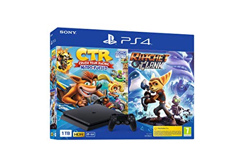 Sony PlayStation 4 - PS4 1TB + Crash Team Racing + Ratchet & Clank