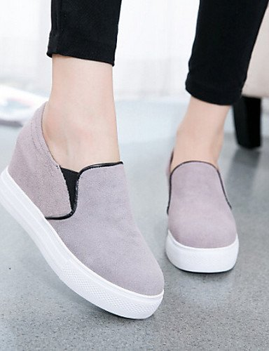 ZQ gyht Scarpe Donna - Mocassini - Tempo libero / Casual - Comoda / Punta arrotondata - Piatto - Tessuto - Nero / Rosso / Grigio , gray-us8 / eu39 / uk6 / cn39 , gray-us8 / eu39 / uk6 / cn39 red-us6.5-7 / eu37 / uk4.5-5 / cn37