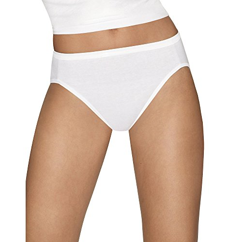 Hanes Womens Ultimate Comfort Cotton 5-Pack Hi-Cut Panties